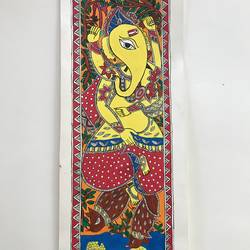 ganpati madhubani, 17 x 6 inch, sonal jain,paintings,abstract paintings,figurative paintings,folk art paintings,religious paintings,ganesha paintings,madhubani paintings,paintings for living room,paintings for office,paintings for hotel,paintings for school,paintings for living room,paintings for office,paintings for hotel,paintings for school,handmade paper,acrylic color,ink color,poster color,17x6inch,GAL01019620191,vinayak,ekadanta,ganpati,lambodar,peace,devotion,religious,lord ganesha,lordganpati