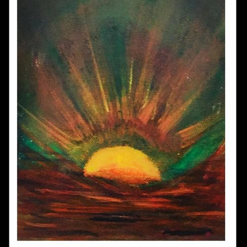 sunrise!, 6 x 8 inch, isha mehra,paintings,nature paintings,paintings for dining room,paintings for living room,paintings for office,paintings for hotel,paintings for dining room,paintings for living room,paintings for office,paintings for hotel,canvas board,acrylic color,6x8inch,GAL0436120201Nature,environment,Beauty,scenery,greenery