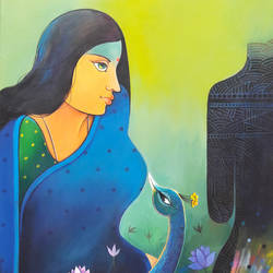 beauty 2, 24 x 48 inch, sanjay  tandekar ,paintings,figurative paintings,paintings for living room,paintings for hotel,paintings for living room,paintings for hotel,canvas,acrylic color,24x48inch,GAL0281020241