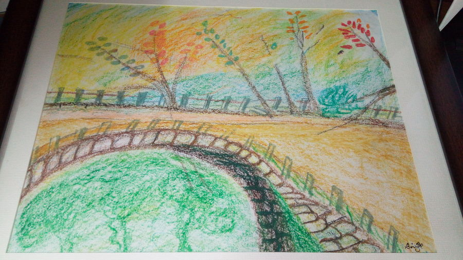landscape  , 13 x 10 inch, dipishree daithota,paintings,nature paintings,paintings for dining room,paintings for living room,paintings for bedroom,paintings for office,paintings for hotel,paintings for school,drawing paper,pastel color,13x10inch,GAL01021820270Nature,environment,Beauty,scenery,greenery