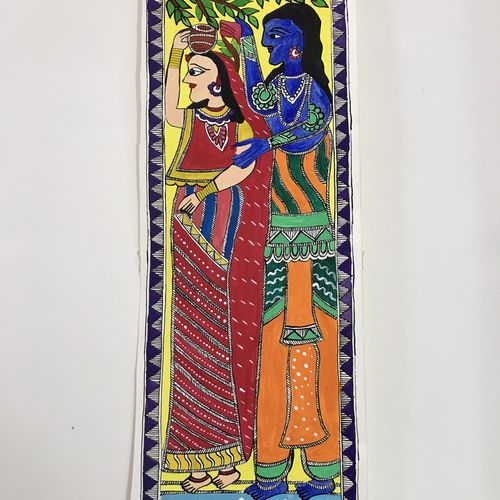 ram sita love madhubani, 17 x 6 inch, sonal jain,paintings,folk art paintings,religious paintings,love paintings,madhubani paintings,paintings for bedroom,paintings for hotel,paintings for hospital,paintings for bedroom,paintings for hotel,paintings for hospital,handmade paper,acrylic color,poster color,17x6inch,GAL01019620276heart,family,caring,happiness,forever,happy,trust,passion,romance,sweet,kiss,love,hugs,warm,fun,kisses,joy,friendship,marriage,chocolate,husband,wife,forever,caring,couple,sweetheart