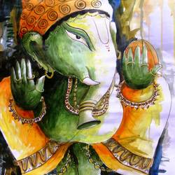 lord ganpati, 22 x 28 inch, anirban seth,figurative paintings,religious paintings,ganesha paintings,contemporary paintings,love paintings,paintings for dining room,paintings for living room,paintings for office,paintings for kids room,paintings for hotel,paintings for school,paintings for hospital,cartridge paper,watercolor,22x28inch,GAL01024520307,vinayak,ekadanta,ganpati,lambodar,peace,devotion,religious,lord ganesha,lordganpati,ganpati,ganesha,lord ganesh,elephant god,religious,ganpati bappa morya,mouse,mushakraj,ladoo,sweets,ganpati bappa morya,ganesh chaturthi,ganesh murti,elephant god,religious,lord ganesh,ganesha,om,hindu god,shiv parvati, putra,bhakti,blessings,aashirwad,pooja,puja,aarti,ekdant,vakratunda,lambodara,bhalchandra,gajanan,vinayak,prathamesh,vignesh,heramba,siddhivinayak,mahaganpati,omkar,mushak,mouse,ladoo,modak,