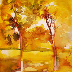 . land scape -1, 10 x 10 inch, satyajit chandra chanda,landscape paintings,nature paintings,paintings for bedroom,paintings for office,vertical,paper,watercolor,10x10inch,GAL07502031Nature,environment,Beauty,scenery,greenery
