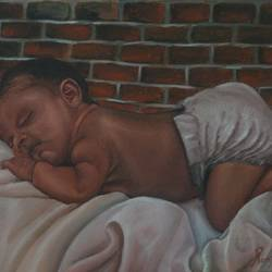 sleeping beauty, 15 x 12 inch, ramya sadasivam,paintings,impressionist paintings,portraiture,realism paintings,realistic paintings,paintings for dining room,paintings for living room,paintings for bedroom,paintings for office,paintings for bathroom,paintings for kids room,paintings for hotel,paintings for kitchen,paintings for school,paintings for hospital,canvas,oil,15x12inch,GAL032720311