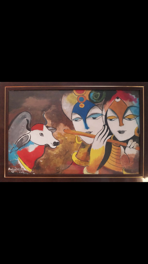 mathuresh, 18 x 12 inch, avinash lohar,paintings,religious paintings,canvas,acrylic color,18x12inch,GAL01029520331