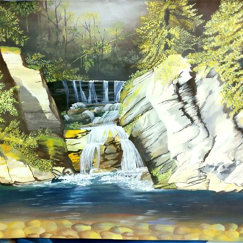 landdscape postercolour , 17 x 23 inch, monicka  sharma ,paintings,landscape paintings,fabriano sheet,poster color,17x23inch,GAL0886920334