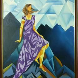 bliss, 20 x 30 inch, monicka  sharma ,paintings,cubist paintings,canvas,oil,20x30inch,GAL0886920335