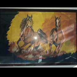 running horses, 36 x 24 inch, avinash lohar,paintings,abstract paintings,canvas,acrylic color,36x24inch,GAL01029520344