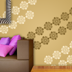 wall stencil: glossy wall stencil design for living room, 1 stencil (size 12x12 inches) | reusable | diy, 12 x 12 inch, wall stencil designs,12x12inch,ohp plastic sheets,flower designs,plastic,GAL0120346,GAL0120346
