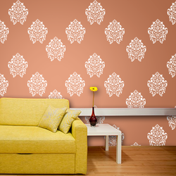 wall stencil: stunning wall design stencil , 1 stencil (size 12x12 inches) | reusable | diy, 12 x 12 inch, wall stencil designs,12x12inch,ohp plastic sheets,flower designs,plastic,GAL0120347,GAL0120347