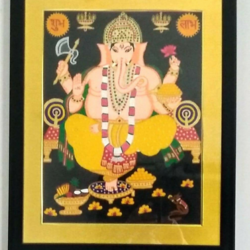 ganpatiji, 17 x 21 inch, geeta kwatra,paintings,religious paintings,canvas,acrylic color,17x21inch,GAL0899120373