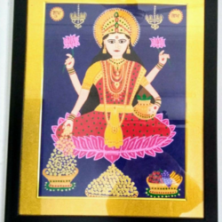 goddess lakshmiji, 17 x 21 inch, geeta kwatra,paintings,religious paintings,canvas,acrylic color,17x21inch,GAL0899120374