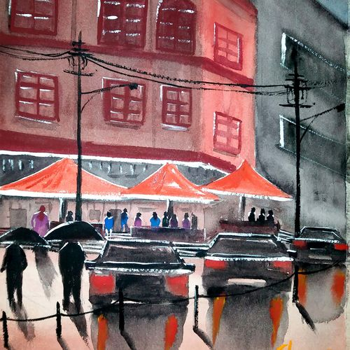 bistro, 10 x 14 inch, afroz nayyar,paintings,impressionist paintings,paintings for dining room,paintings for living room,paintings for bedroom,paintings for office,paintings for hotel,paintings for kitchen,paintings for school,paintings for hospital,paintings for dining room,paintings for living room,paintings for bedroom,paintings for office,paintings for hotel,paintings for kitchen,paintings for school,paintings for hospital,arches paper,watercolor,10x14inch,GAL0943220378