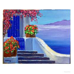 scenery painting , 15 x 12 inch, reshma  makwana,paintings,nature paintings,canvas,acrylic color,ceramic work,15x12inch,GAL01028120385Nature,environment,Beauty,scenery,greenery