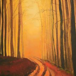 lost in the woods, 16 x 12 inch, mayuri sinha,paintings,landscape paintings,nature paintings,photorealism paintings,paintings for dining room,paintings for living room,paintings for bedroom,paintings for office,paintings for hotel,paintings for school,paintings for hospital,canvas,acrylic color,mixed media,16x12inch,GAL01037420415Nature,environment,Beauty,scenery,greenery
