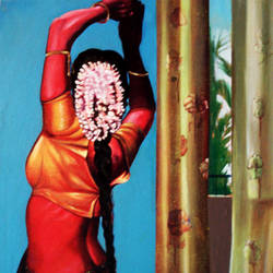 dancer-2 , 36 x 48 inch, satyajit chandra chanda,figurative paintings,conceptual paintings,paintings for living room,paintings for office,vertical,canvas,acrylic color,36x48inch,GAL07502042