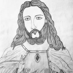 jesus christ, 11 x 13 inch, geeta kwatra,drawings,abstract drawings,drawing paper,pencil color,11x13inch,GAL0899120423