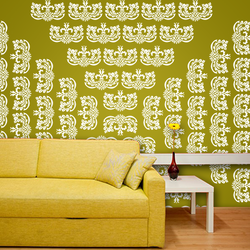 wall stencil: decorative wall stencil, 1 stencil (size 12x12 inches) | reusable | diy, 12 x 12 inch, wall stencil designs,12x12inch,ohp plastic sheets,flower designs,plastic,GAL0120430,GAL0120430