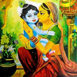 love of yashoda to krishn, 12 x 16 inch, ayushi jain,paintings,conceptual paintings,religious paintings,nature paintings,realism paintings,realistic paintings,paintings for dining room,paintings for living room,paintings for bedroom,paintings for office,paintings for bathroom,paintings for kids room,paintings for hotel,paintings for kitchen,paintings for hospital,canvas,acrylic color,12x16inch,GAL0940820440Nature,environment,Beauty,scenery,greenery