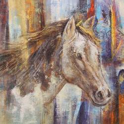 portrait of horse, 36 x 24 inch, achal  art studio,paintings,abstract paintings,horse paintings,canvas,acrylic color,36x24inch,GAL0991220454