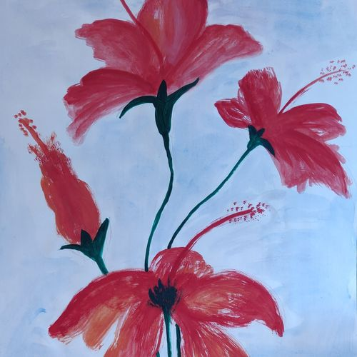 flower love, 11 x 15 inch, pranati bhadra,paintings,flower paintings,paintings for dining room,paintings for living room,paintings for bedroom,paintings for office,paintings for kids room,paintings for hotel,paintings for school,drawing paper,watercolor,11x15inch,GAL01039620470