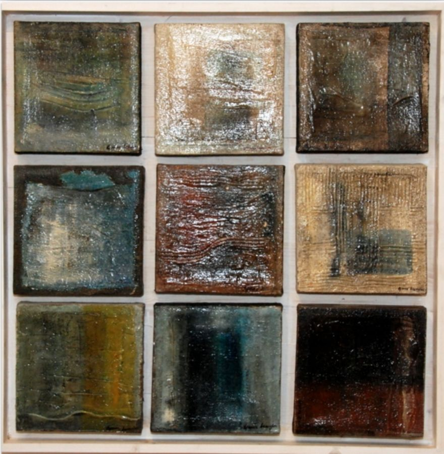 water, 36 x 36 inch, aparna  banerjee,abstract paintings,paintings for living room,cloth,mixed media,36x36inch,GAL07992048