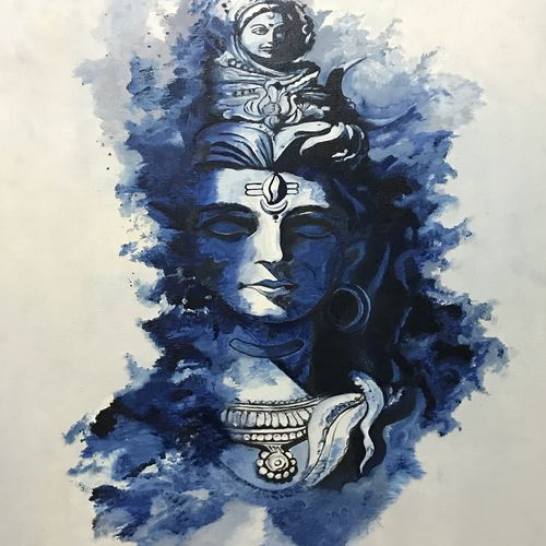 lord shiva, 18 x 24 inch, shimpa agrawal,paintings,canvas,oil,18x24inch,GAL01022820480