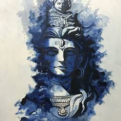 lord shiva, 18 x 24 inch, shimpa agrawal,paintings,abstract paintings,canvas,oil,18x24inch,GAL01022820482