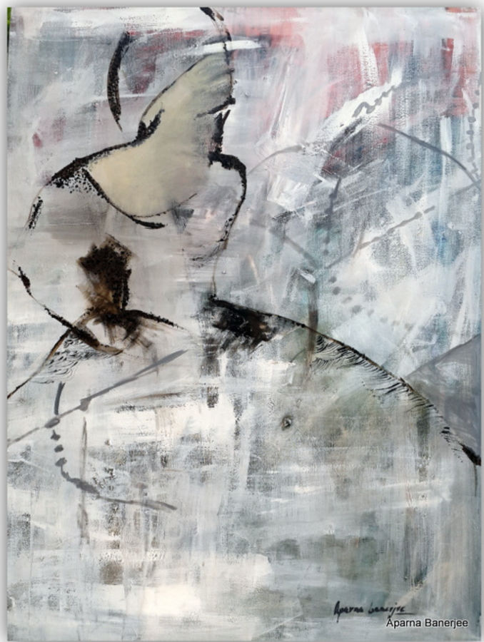 freedom, 92 x 122 inch, aparna  banerjee,abstract paintings,paintings for living room,canvas,acrylic color,92x122inch,GAL07992051