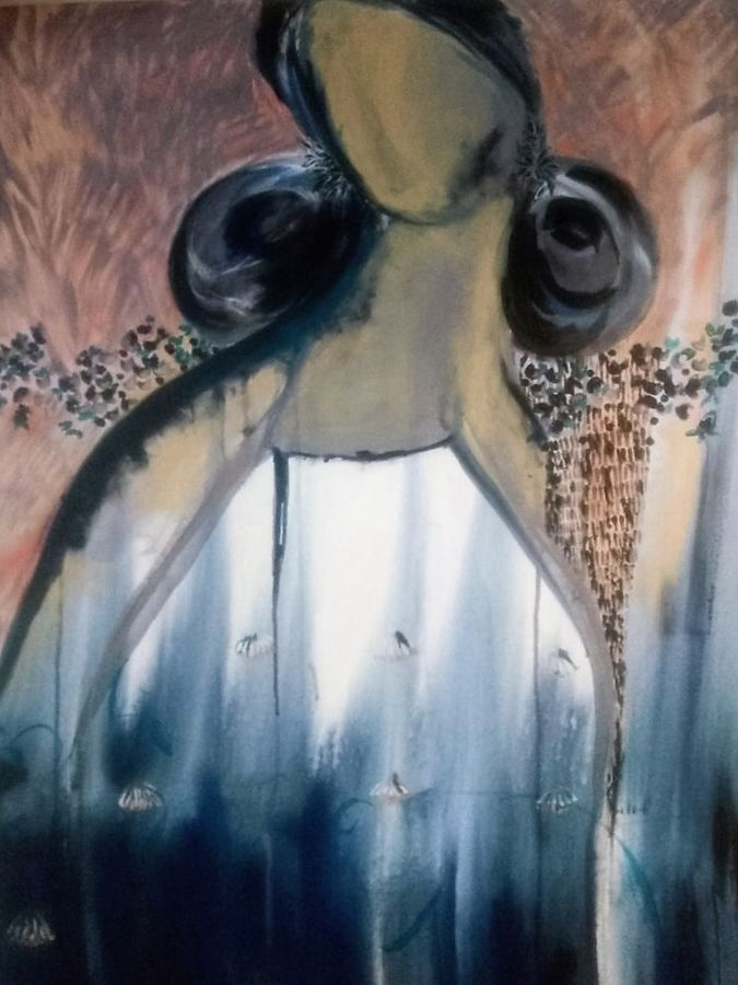 nip in the air, 92 x 122 inch, aparna  banerjee,abstract paintings,paintings for living room,canvas,acrylic color,92x122inch,GAL07992052