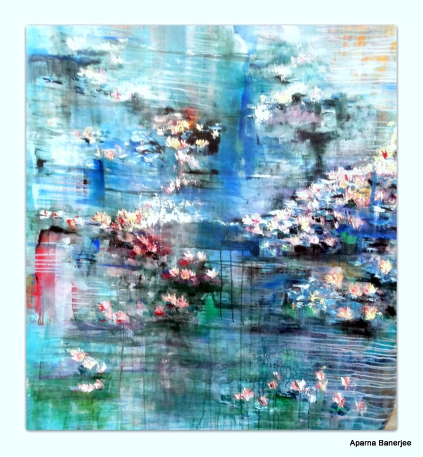 dawn, 48 x 60 inch, aparna  banerjee,abstract paintings,paintings for living room,canvas,acrylic color,48x60inch,GAL07992054