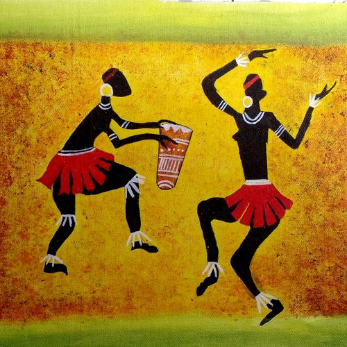 traditional dance, 16 x 12 inch, ayushi jain,paintings,warli paintings,miniature painting.,paintings for dining room,paintings for living room,paintings for bedroom,paintings for office,paintings for bathroom,paintings for kids room,paintings for hotel,paintings for kitchen,paintings for school,paintings for hospital,canvas,acrylic color,oil,16x12inch,GAL0940820546