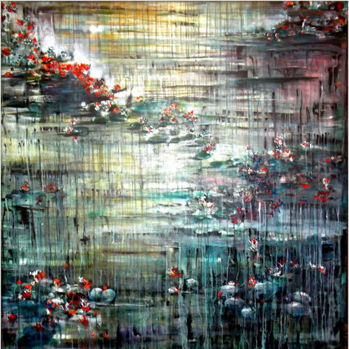 dusk, 60 x 72 inch, aparna  banerjee,abstract paintings,paintings for living room,canvas,acrylic color,60x72inch,GAL07992055