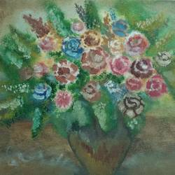 the flowers, 14 x 12 inch, sohini nandi,paintings,flower paintings,paintings for kids room,paintings for hospital,paintings for kids room,paintings for hospital,canvas,acrylic color,oil,14x12inch,GAL01050720578