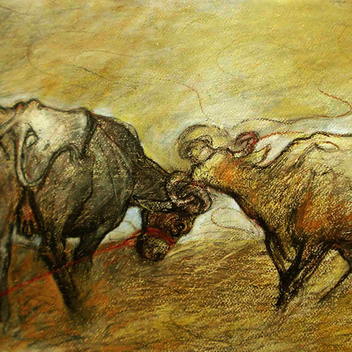 enjoy-3, 24 x 18 inch, satyajit chandra chanda,wildlife paintings,paintings for office,animal paintings,paper,mixed media,24x18inch,GAL07502058