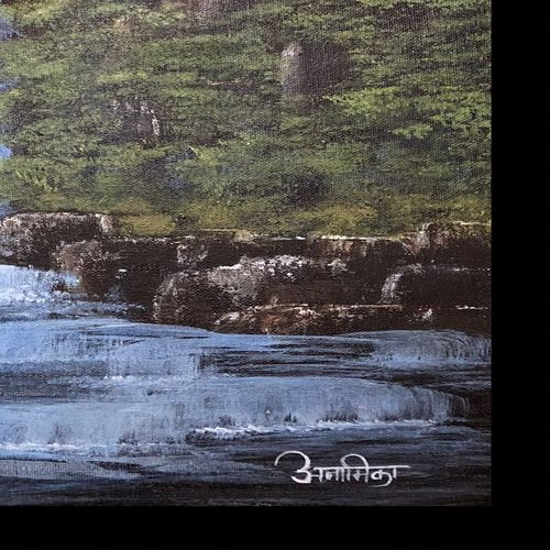falling water , 16 x 20 inch, anamika bhong,paintings,nature paintings,paintings for dining room,paintings for living room,paintings for bedroom,paintings for office,paintings for bathroom,paintings for hotel,paintings for hospital,paintings for dining room,paintings for living room,paintings for bedroom,paintings for office,paintings for bathroom,paintings for hotel,paintings for hospital,canvas board,acrylic color,16x20inch,GAL01052720594Nature,environment,Beauty,scenery,greenery,trees,water,beautiful,leaves,flowers
