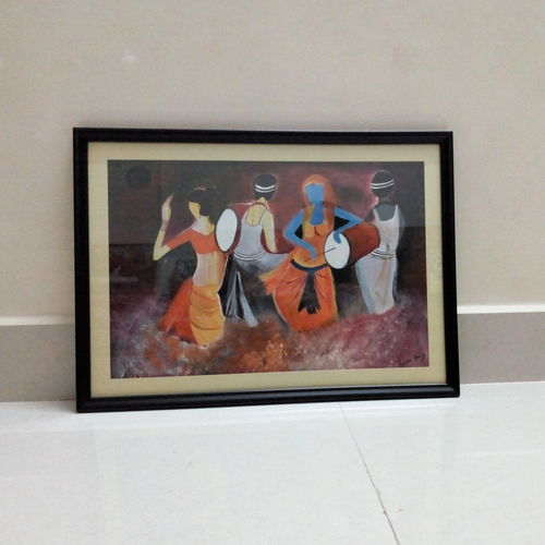 dance of joy, 12 x 18 inch, suparna shenoy,abstract paintings,canvas,acrylic color,12x18inch,GAL0999820595