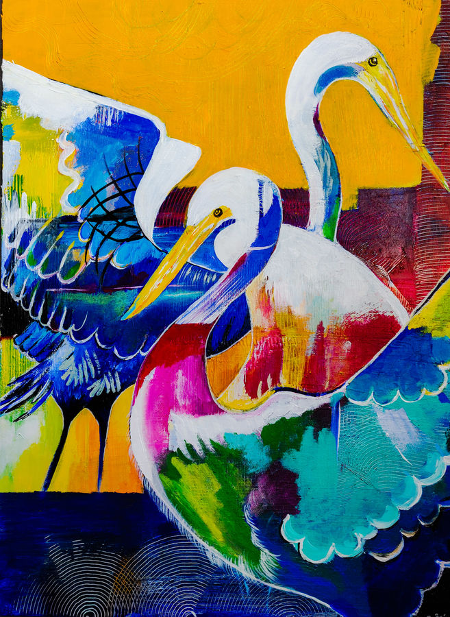 love birds, 18 x 24 inch, rajni  a,wildlife paintings,modern art paintings,abstract expressionist paintings,expressionist paintings,paintings for dining room,paintings for living room,paintings for bedroom,paintings for office,paintings for bathroom,paintings for hotel,animal paintings,canvas board,acrylic color,mixed media,18x24inch,GAL084020617