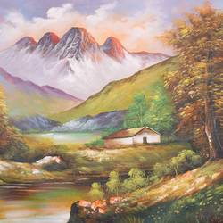 natures love 2, 36 x 24 inch, achal  art studio,paintings,landscape paintings,paintings for living room,canvas,acrylic color,36x24inch,GAL0991220622