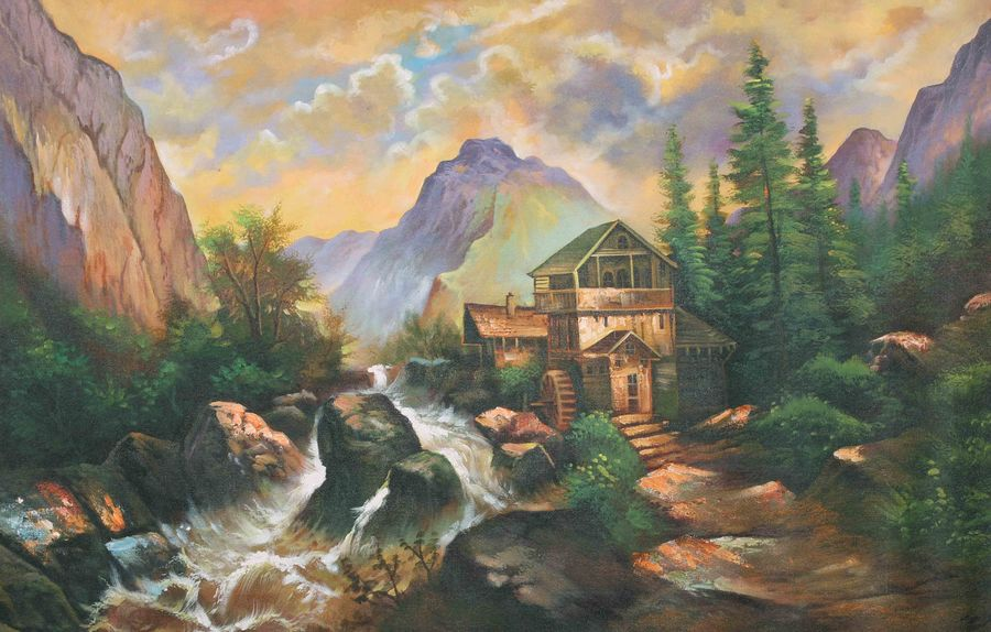 natures love 4, 36 x 24 inch, achal  art studio,paintings,landscape paintings,paintings for living room,canvas,acrylic color,36x24inch,GAL0991220627