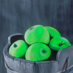 tasty green apple , 25 x 23 inch, rijoy  emmanuel,paintings,still life paintings,nature paintings,realistic paintings,paintings for dining room,paintings for living room,paintings for office,paintings for kids room,paintings for hotel,paintings for kitchen,canvas,acrylic color,25x23inch,GAL0643120631Nature,environment,Beauty,scenery,greenery