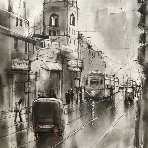kolkata eternity series 4.1 in ink, charcoal and graphite, 11 x 16 inch, joydeep mitra,modern art paintings,abstract expressionist paintings,pop art paintings,contemporary paintings,paintings for dining room,paintings for living room,paintings for bedroom,paintings for office,paintings for bathroom,paintings for kids room,paintings for hotel,paintings for kitchen,paintings for school,paintings for hospital,paintings for dining room,paintings for living room,paintings for bedroom,paintings for office,paintings for bathroom,paintings for kids room,paintings for hotel,paintings for kitchen,paintings for school,paintings for hospital,fabriano sheet,charcoal,ink color,pen color,photo ink,graphite pencil,11x16inch,GAL0768320637