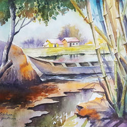 watercolor landscape paintings, 15 x 11 inch, amjad ali khan pathan,paintings,landscape paintings,nature paintings,paintings for dining room,paintings for living room,paintings for bedroom,paintings for office,paintings for bathroom,paintings for hotel,thick paper,watercolor,15x11inch,GAL0860820649Nature,environment,Beauty,scenery,greenery