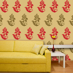 wall stencil: royal design wall stencil , 1 stencil (size 12x12 inches) | reusable | diy, 12 x 12 inch, wall stencil designs,12x12inch,ohp plastic sheets,flower designs,plastic,GAL0120689,GAL0120689
