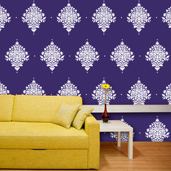 wall stencil: beautiful traditional wall design stencil, 1 stencil (size 12x12 inches) | reusable | diy, 12 x 12 inch, wall stencil designs,12x12inch,ohp plastic sheets,flower designs,plastic,GAL0120692,GAL0120692
