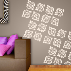 wall stencil: exclusive  design wall stencil , 1 stencil (size 12x12 inches) | reusable | diy, 12 x 12 inch, wall stencil designs,12x12inch,ohp plastic sheets,flower designs,plastic,GAL0120697,GAL0120697