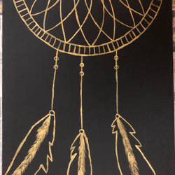 dream catcher, 12 x 16 inch, archana bharath,paintings,modern art paintings,art deco paintings,paintings for dining room,paintings for living room,paintings for bedroom,paintings for office,paintings for kids room,paintings for kitchen,paintings for school,canvas,acrylic color,12x16inch,GAL0634920714