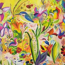 beautiful flower painting , 36 x 48 inch, veenu  gupta,paintings,flower paintings,paintings for living room,paintings for hotel,paintings for school,paintings for living room,paintings for hotel,paintings for school,canvas,oil,36x48inch,GAL01068420735