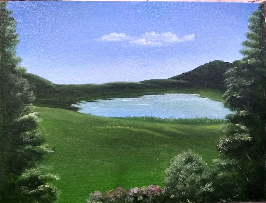 nature., 16 x 12 inch, basanti kaul,landscape paintings,nature paintings,paintings for dining room,paintings for living room,paintings for bedroom,paintings for office,paintings for hotel,paintings for kitchen,paintings for hospital,canvas,oil,16x12inch,GAL01068920739Nature,environment,Beauty,scenery,greenery