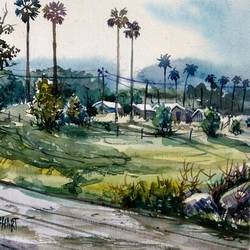 sunny day, 16 x 11 inch, prabhakaran parappur,paintings,landscape paintings,canson paper,watercolor,16x11inch,GAL0753720756